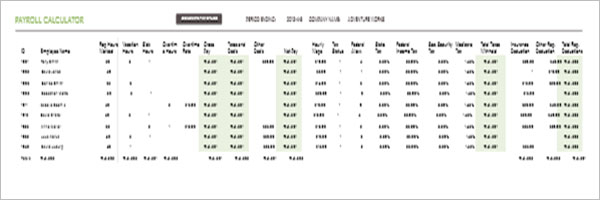 11 Free Weekly Paycheck Calculator Excel PDF Doc Word