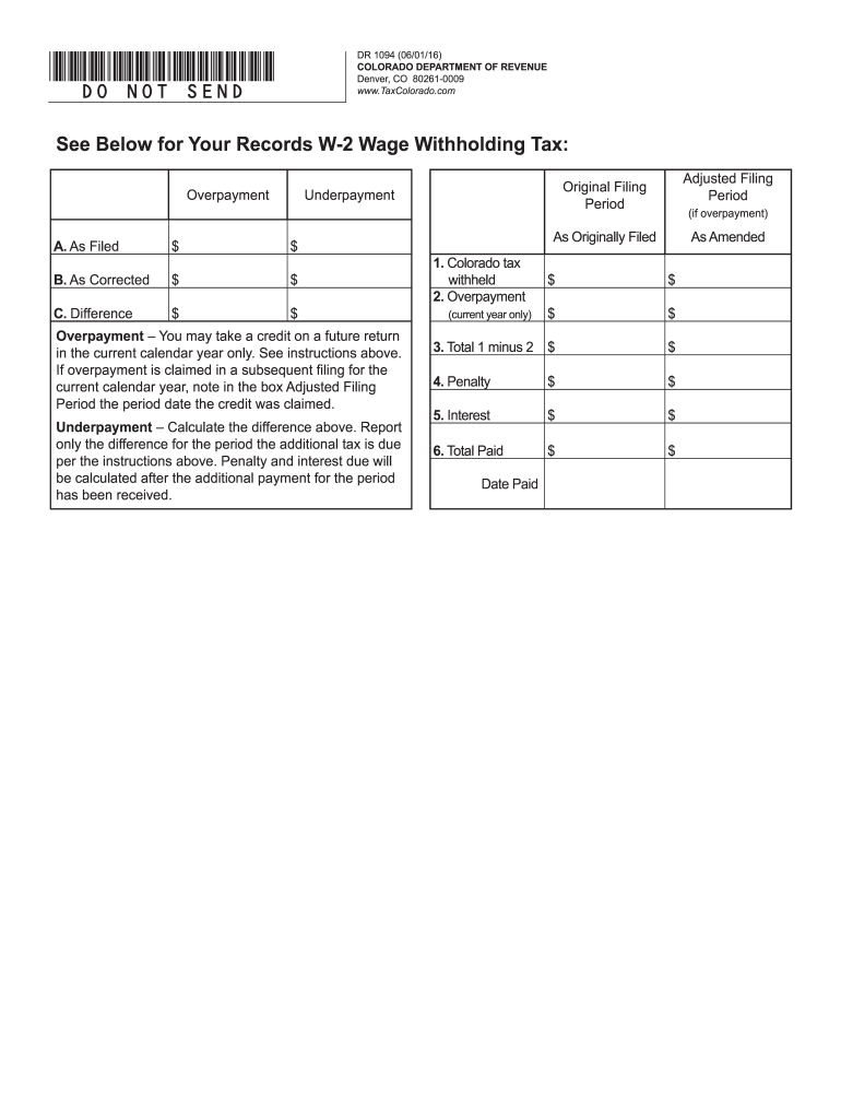 Dr 1094 Fill Out And Sign Printable PDF Template SignNow