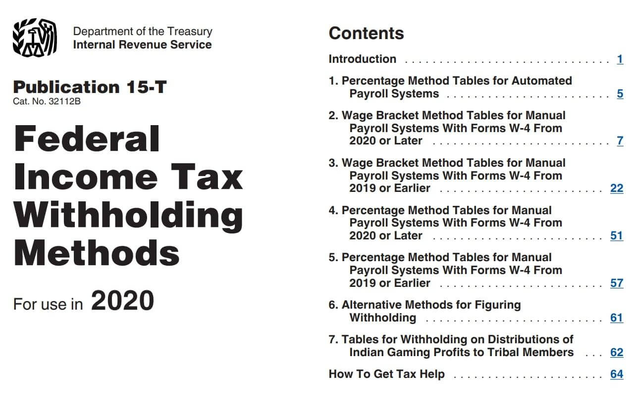 Federal Withholding Tables 2021 Federal Income Tax