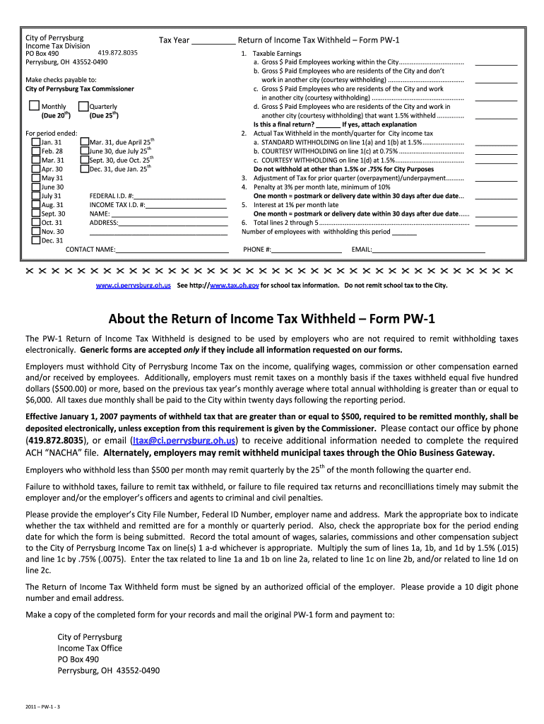 Filling Out Perrysburg Taxes Fill Out And Sign Printable